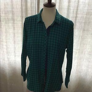 2 Eddie Bauer flannel shirts bundle